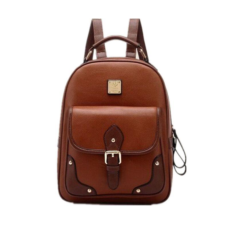 Women Backpack 2016 New Stylish Fashion Pu Leather Backpacks ...