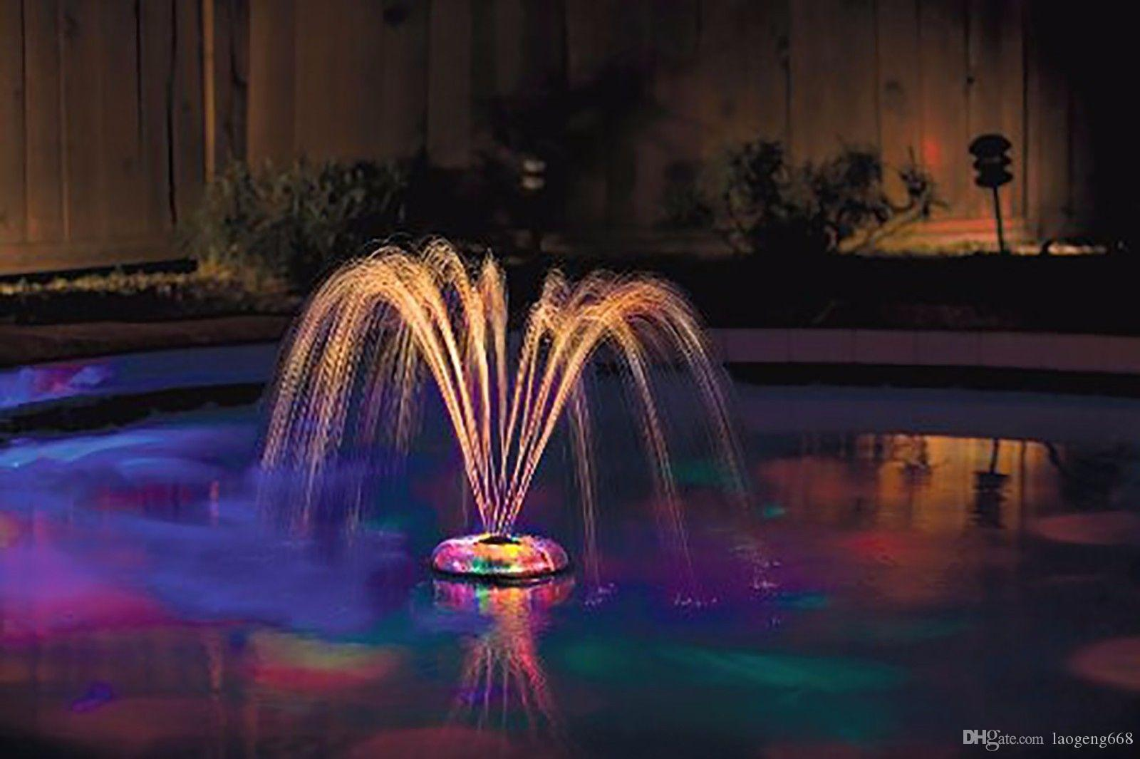 2017 swimming pool led decor underwater light show - Swimming pool fountains and lights ...