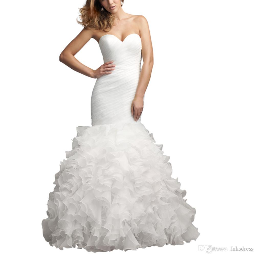 Discount wedding dress 2016 sweetheart cheap mermaid for Dhgate wedding dresses 2016