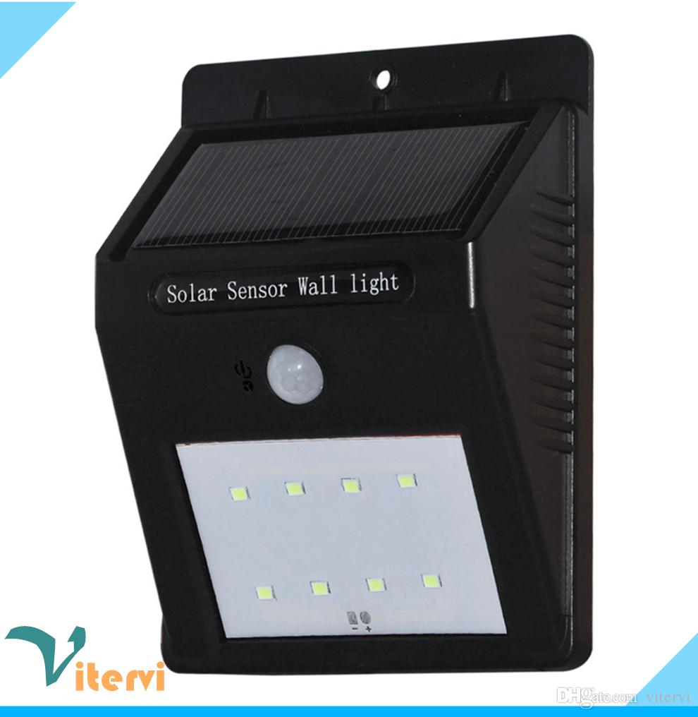 2017 Outdoor Waterproof Led Solar Light 8leds Ip65 Solar Wall Lamp ...