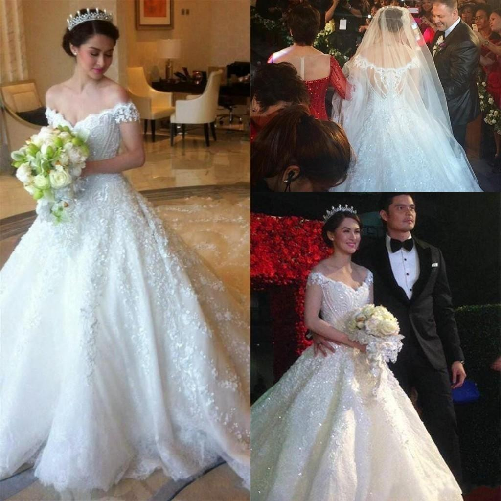 2016 full lace wedding dresses formal church a line for Dhgate wedding dresses 2016