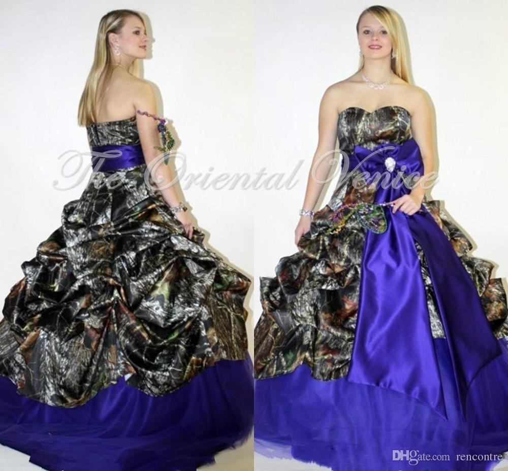 Discount royal blue plus size camouflage wedding dresses for Royal blue plus size wedding dresses