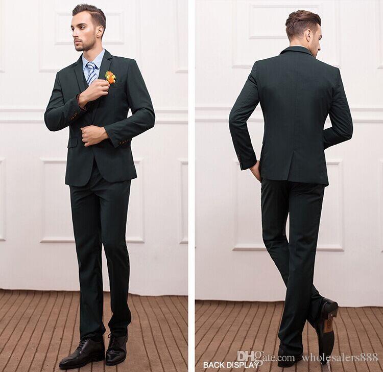 Dark Green Suit Vest Online | Dark Green Suit Vest for Sale