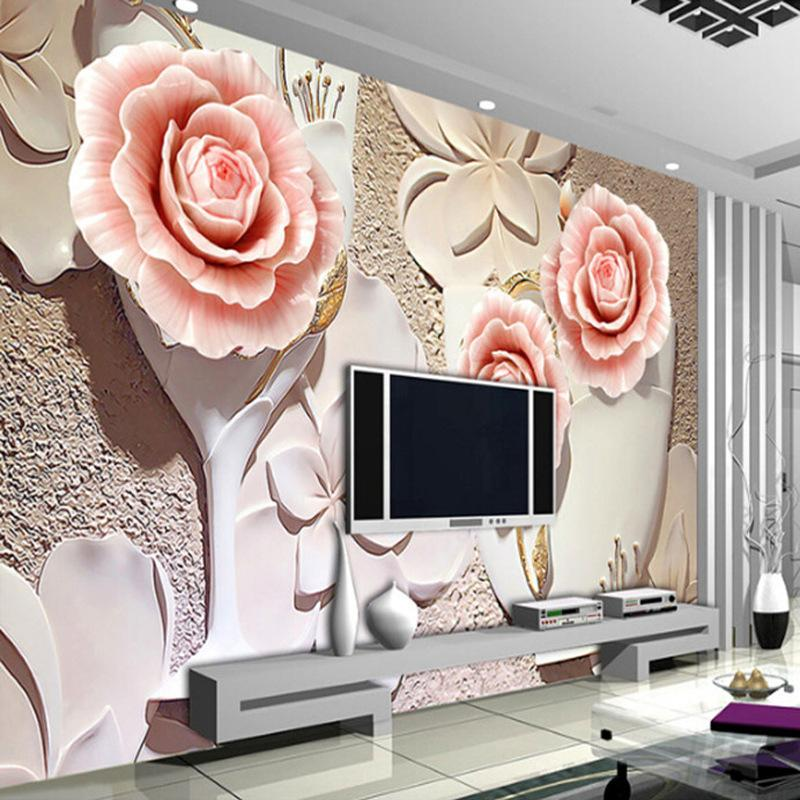 3d Giant Photo Wallpaper Big Rose Wall Mural Personality