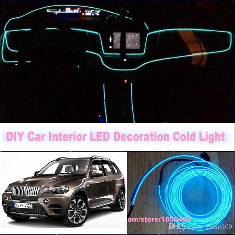 for bmw x5 e53 e70 x6 e71 z4 e85 e86 e89 diy 9 meters 12v car el cold light led interior. Black Bedroom Furniture Sets. Home Design Ideas