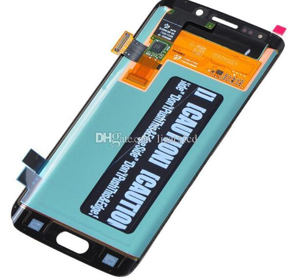 Samsung Galaxy S6 Edge lcd G9250 G925F LCD Touch Screen Digitizer Black Grade White New quality