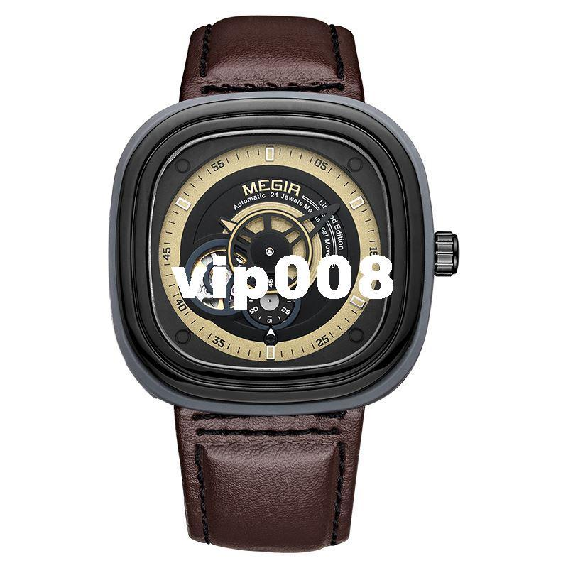 megir famous brand mens watches square large dial special designer megir famous brand mens watches square large dial special designer watch sport military quartz watch chronograph