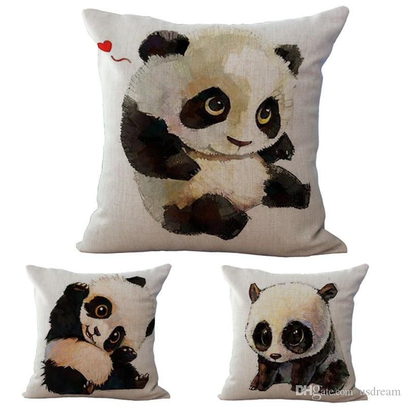 Cute Body Pillow Cases : Cute Baby Animal Panda Bear Pillow Case Cushion Cover Linen Cotton Squar Throw Pillowcases Home ...