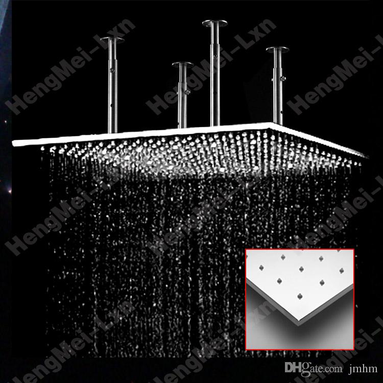High Flow Hotel Bathroom Rainfall Shower Head Ceiling Mounted 50