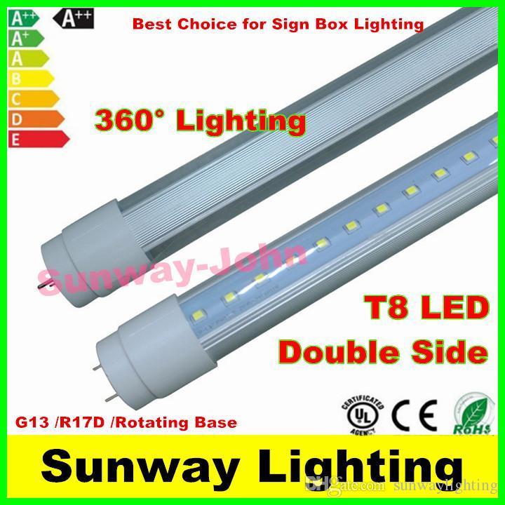 360 Degree Emitting T8 Double Side Led Tube Lights G13