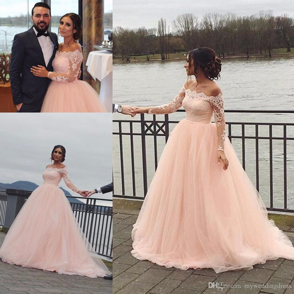 2017 fall winter country vintage lace applique wedding dresses long sleeve bateau backless cheap sexy plus size bridal gown wedding dress wedding dresses