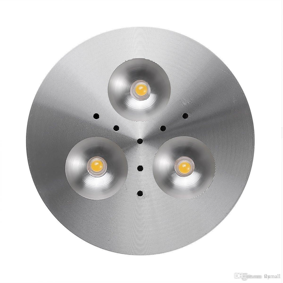 12V DC 3W Spotlight LED Under Cabinet Lighting Puck Lights Jewelry LED Light  Showcase Cabinet Light Kitchen Counter Down Lighting Spotlight Under Cabinet  ...