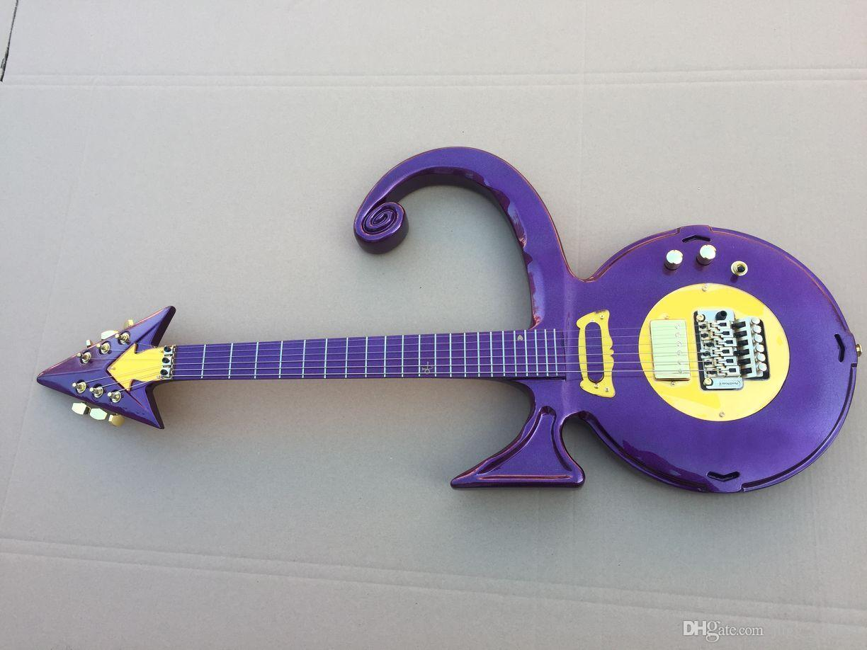 Unique Guitar Rare Shaped Guitar Metallic Purple Prince ...