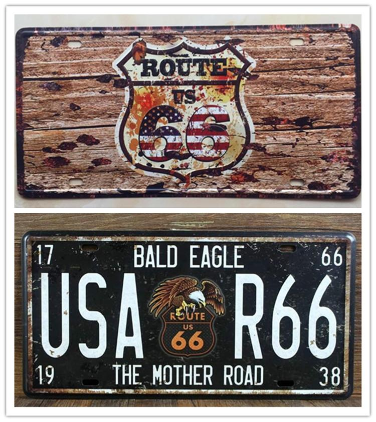 2017 the mother road us route 66 metal tin sign license plate man ...