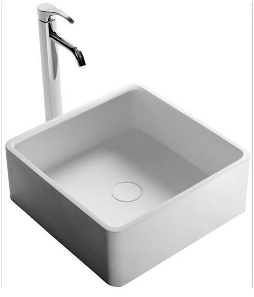 Square Bathroom Solid Surface Stone Counter Top Vessel Sink Fashionable  Cloakroom Stone Vanity Wash Basin RS3874 2 Vessel Sink Wash Basin Counter  Top Sink ...