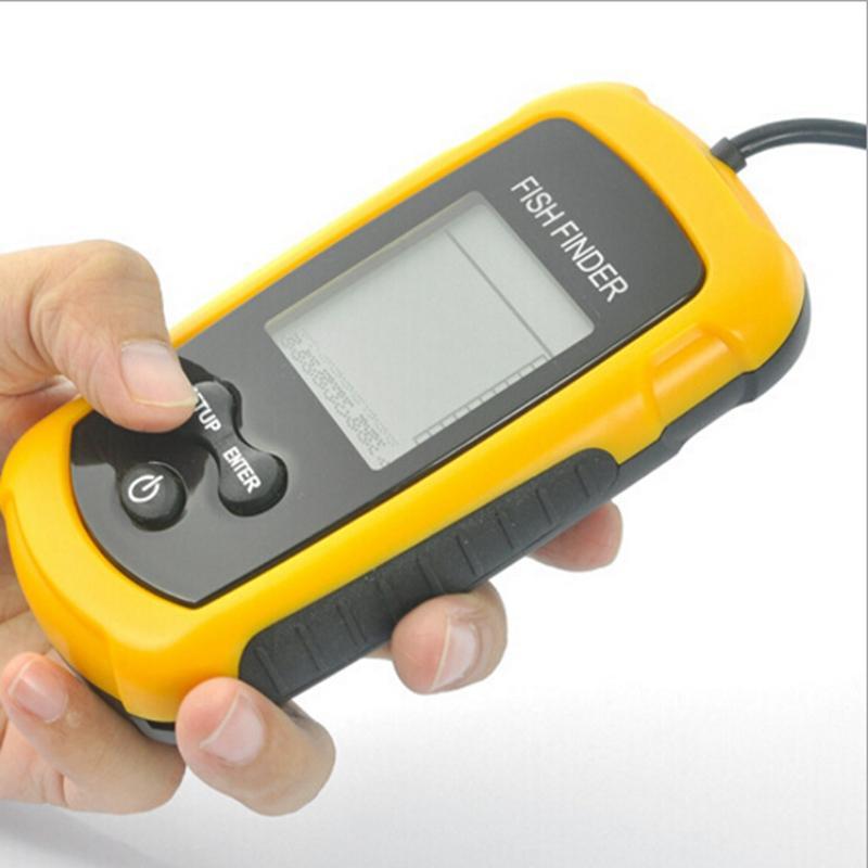 free fisher brand goture portable fish finder depth sonar sounder, Fish Finder