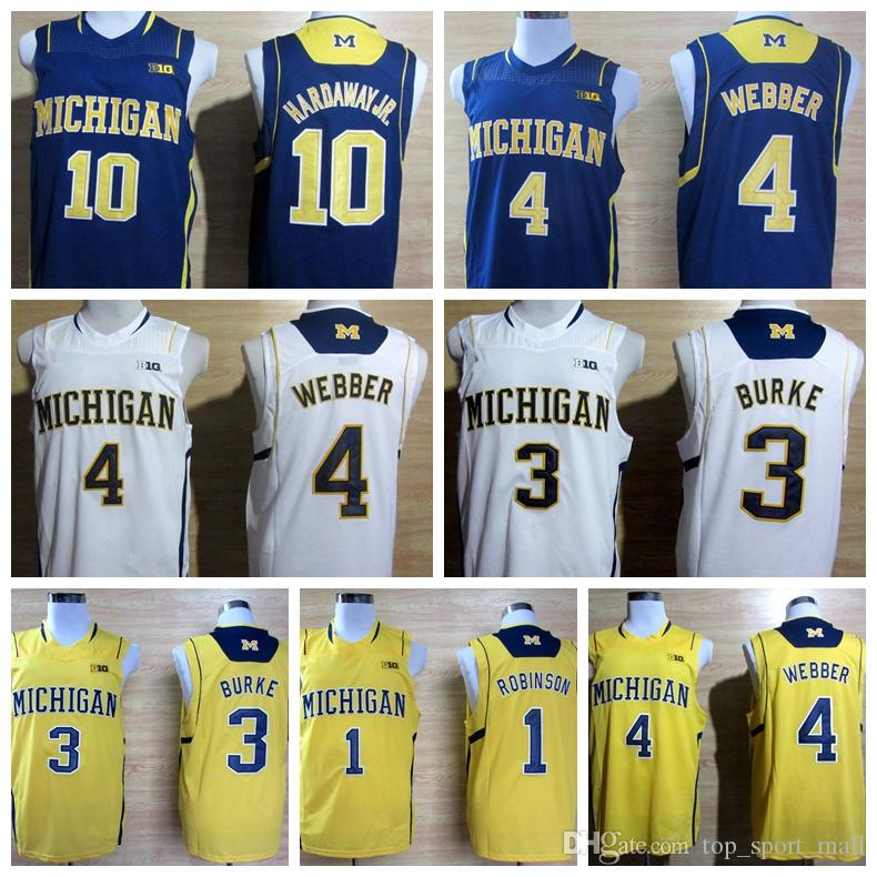 2016 Collège Michigan Wolverines Jerseys Big 10 Patch 1 Glenn Robinson III 3 Tre