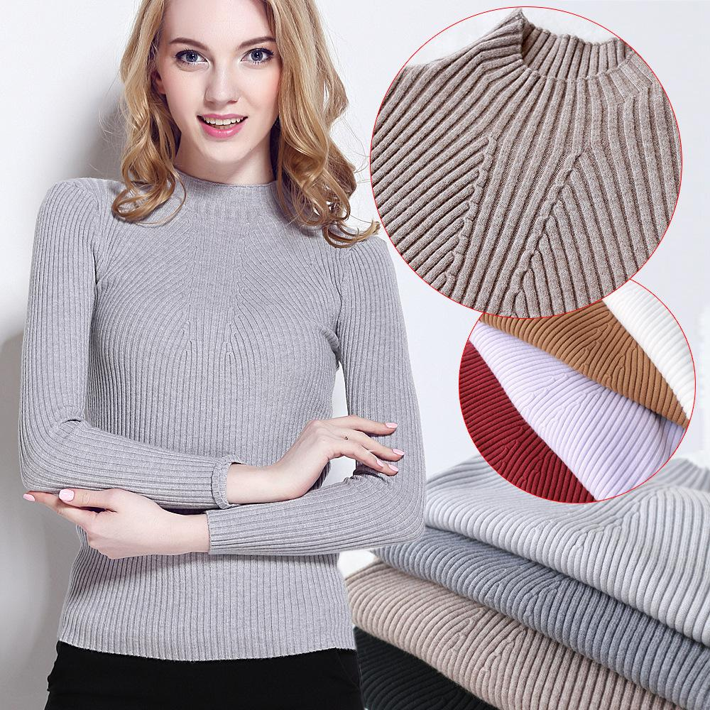 Female Knitted Long Sleeve Pullover Sweater Womens Sweaters And ...