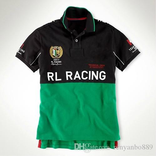 RL Racing Team 2011 Sport Hommes Polo T-Shirts USA Fameux Marque de coton broder