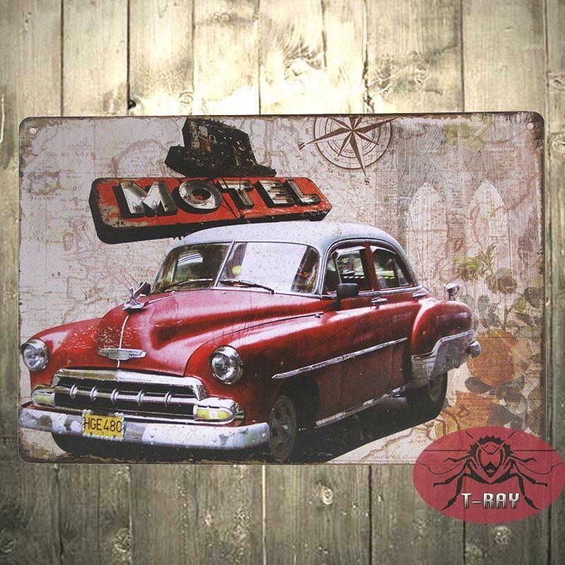 RED Vintage CAR BRITISH,COLLECTABLE 12X 8 RETRO METAL SIGN 30X20CM B ...
