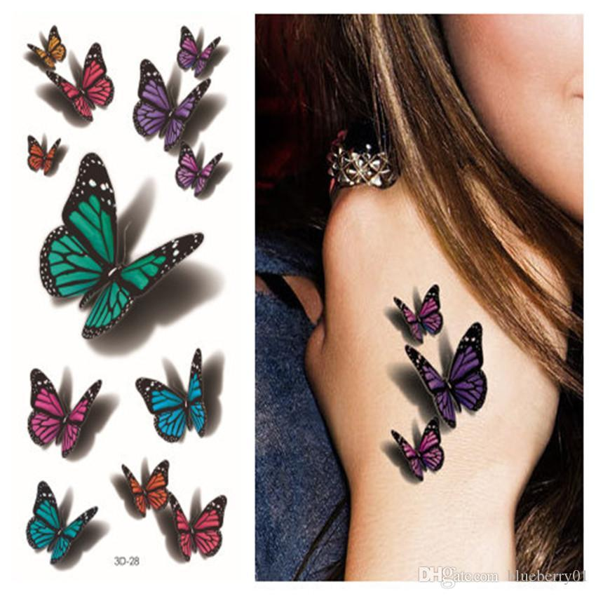 wholesale new temporary 3d tattoo sticker sexy colorful body art tatoos waterproof fake stickers. Black Bedroom Furniture Sets. Home Design Ideas