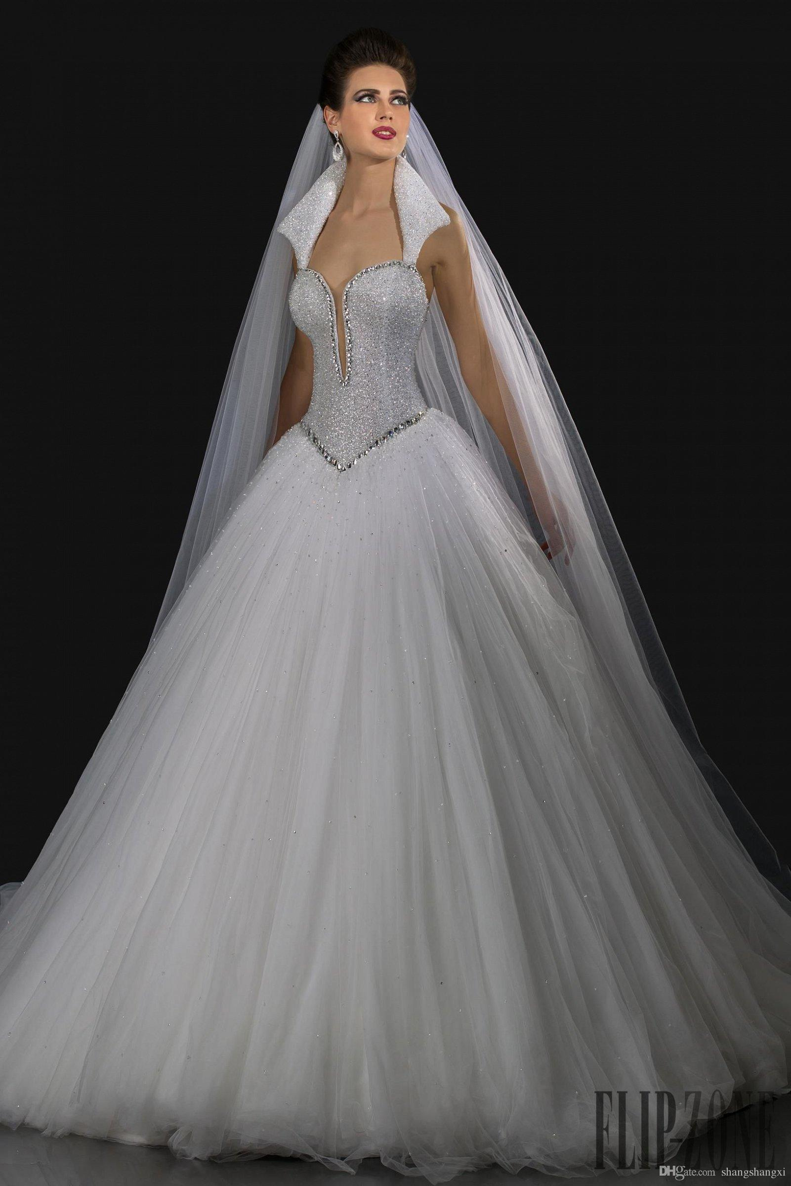 Gorgeous wedding ball gowns 2016 queen anne neckline for Queen anne neckline wedding dress