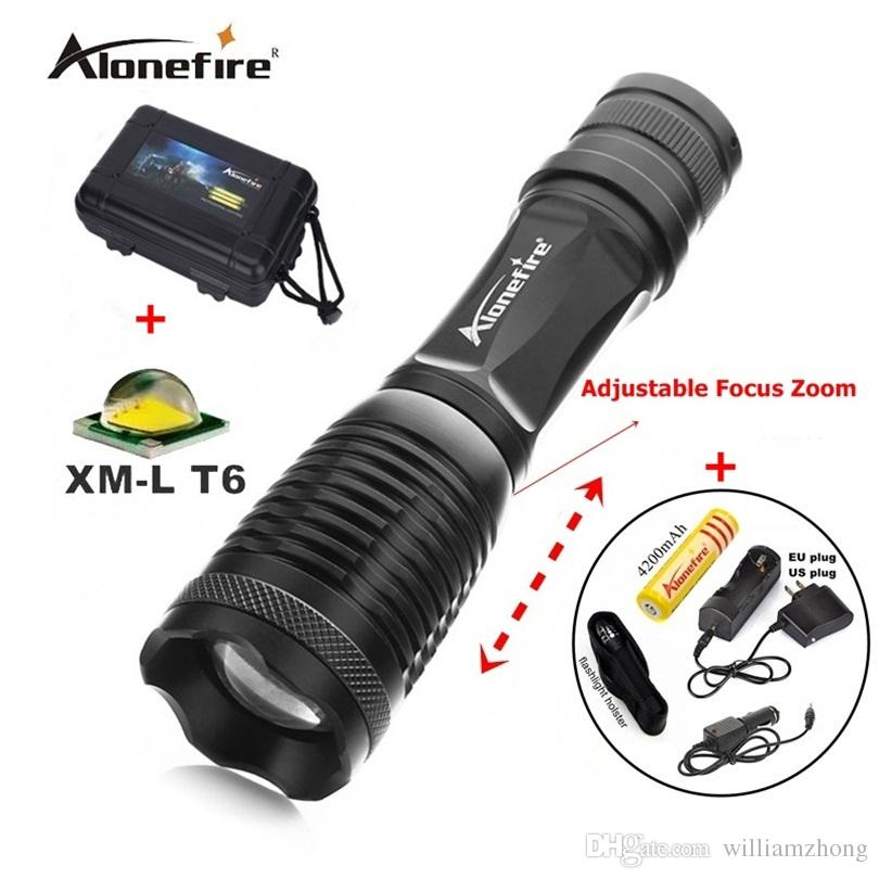 100% authentique E007 CREE XM-L T6 2000lm 5 Mode rechargeable LED CREE lampe tor