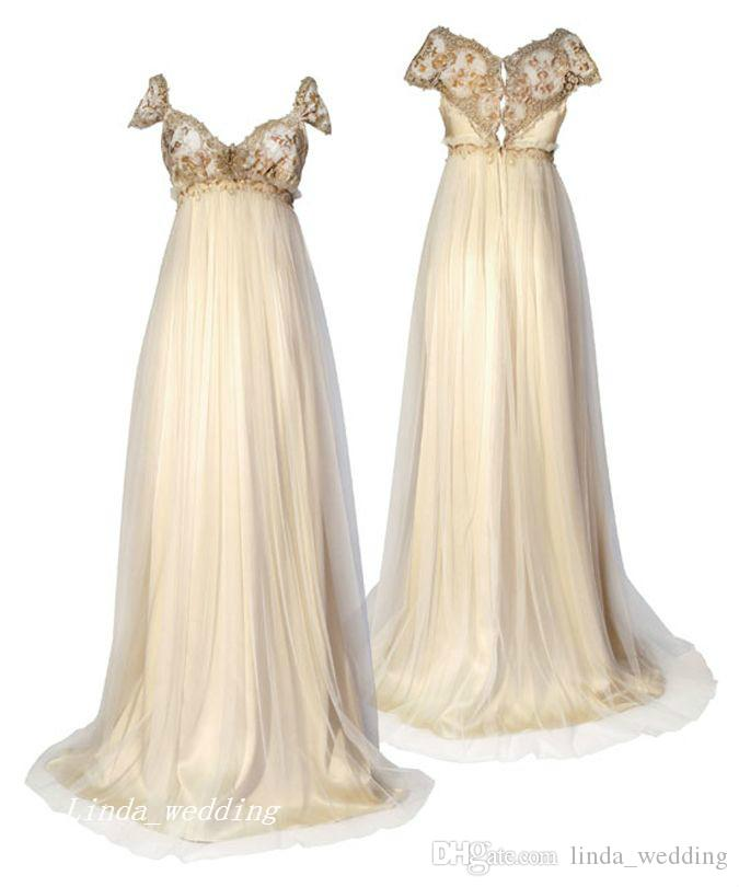 Discount 1800 victorian style wedding dresses regency for Regency style wedding dress