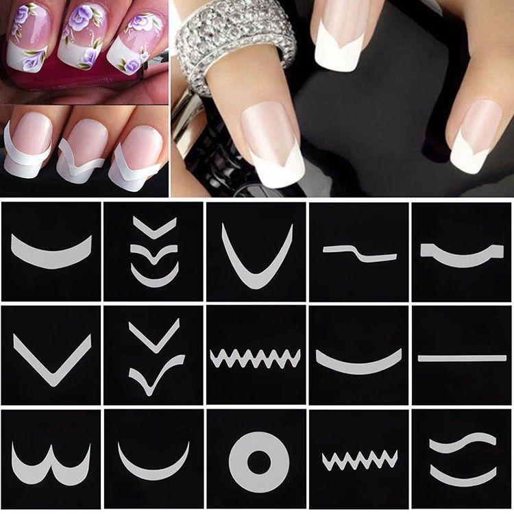 Как сделать маникюр с наклейками для ногтей