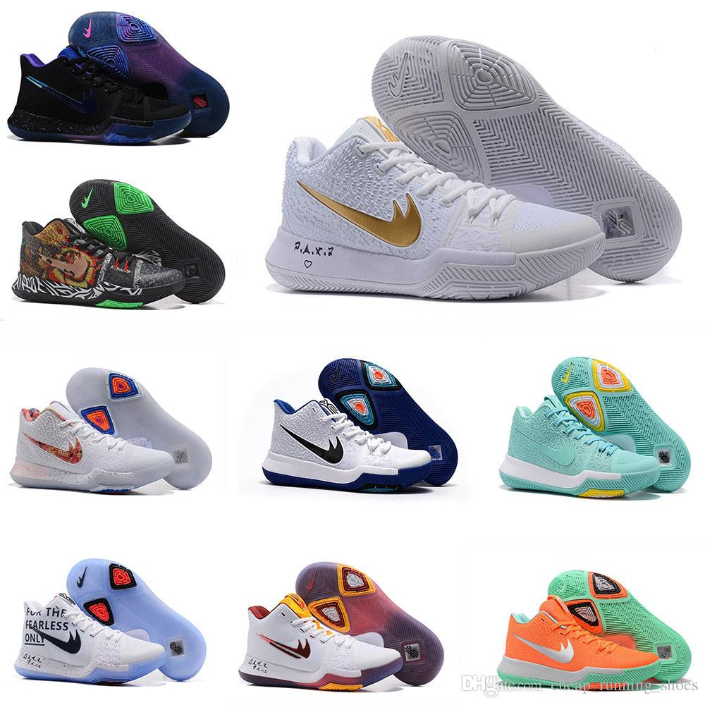 2017 New Style Kyrie Irving 3 Hot Punch Team Red Christmas Mens Basketball  Shoes Top Quality Kyrie 3 Air Cushion Sport Sneakers 40-46 Basketball Shoes  Kevin ...