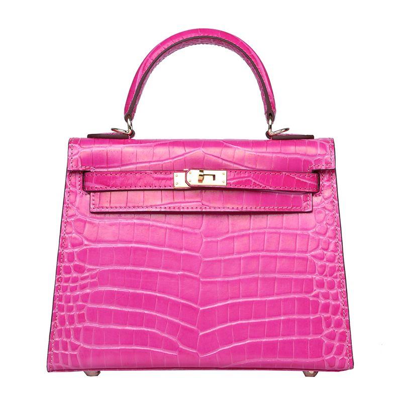 2016 New Designer Women Bag K 20/25/28cm Rose Tyrien Crocodile ...