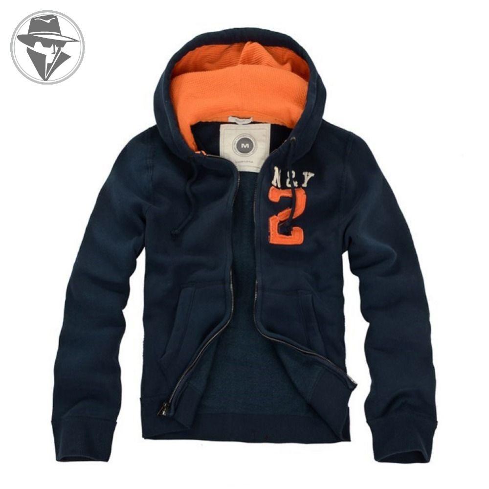 Wholesale-Heavyweight Men's Fleece Full Zip Hoodie Jacket Cotton ...
