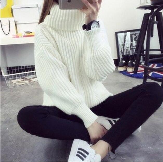 2017 Winter White Turtleneck Sweater Coat Women&39S Clothing winter