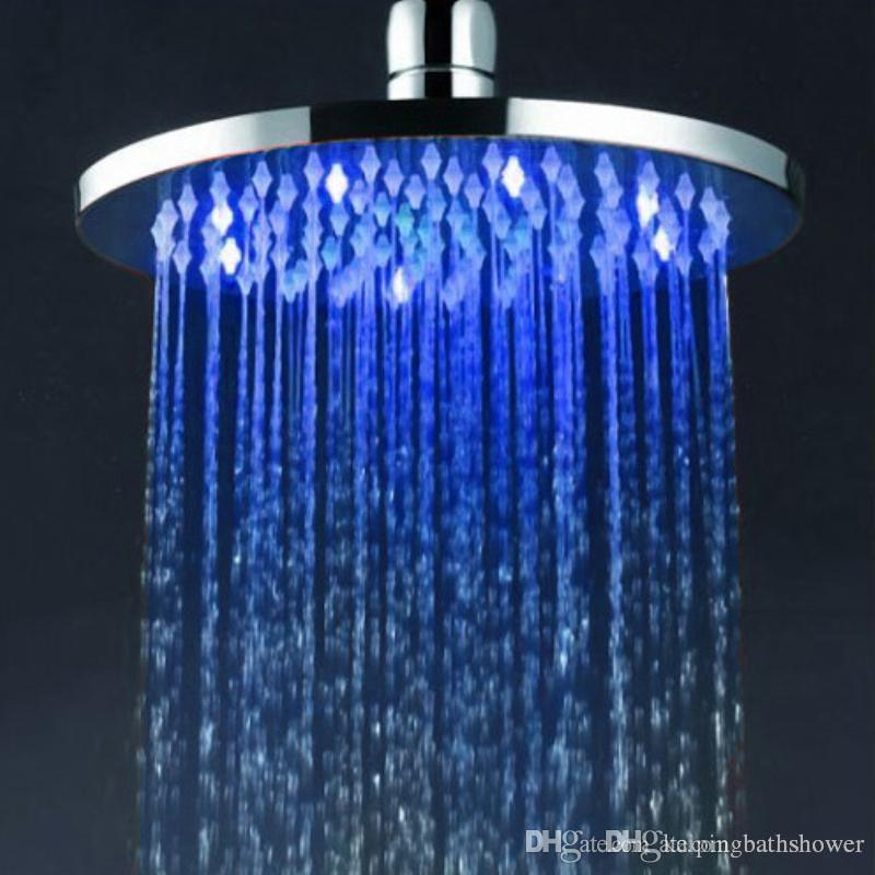 8 Inches Water Pressure Powered Colours Led Rain Shower Head
