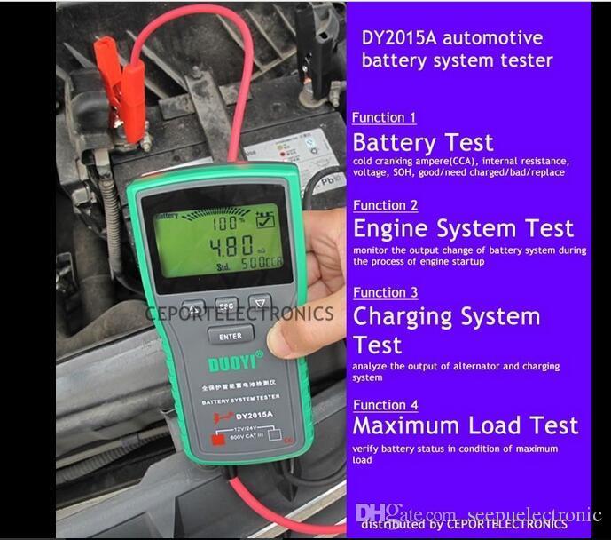 Hand Held Battery Tester Automotive : Dy a v digital automotive car battery load tester
