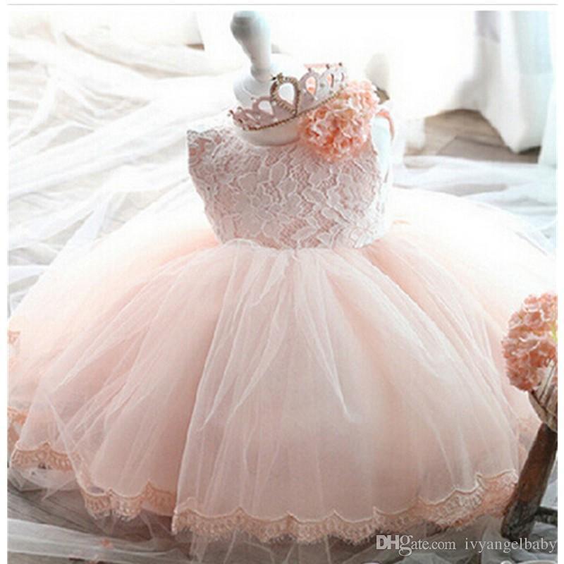 2017 Princess Dresses Girls Tulle Flower Princess Wedding
