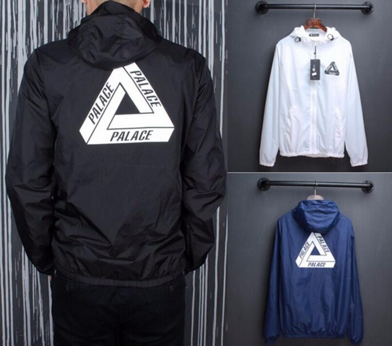 Sup Jacket Men London Brand Classic Triangle Printing Windbreaker off white Skat