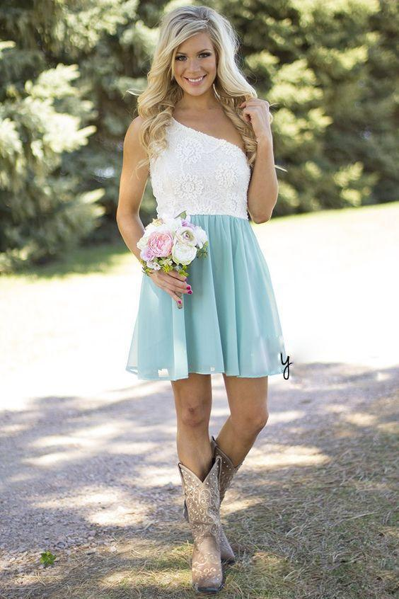 2016 cheap country bridesmaid dresses for wedding short for Short country wedding dress