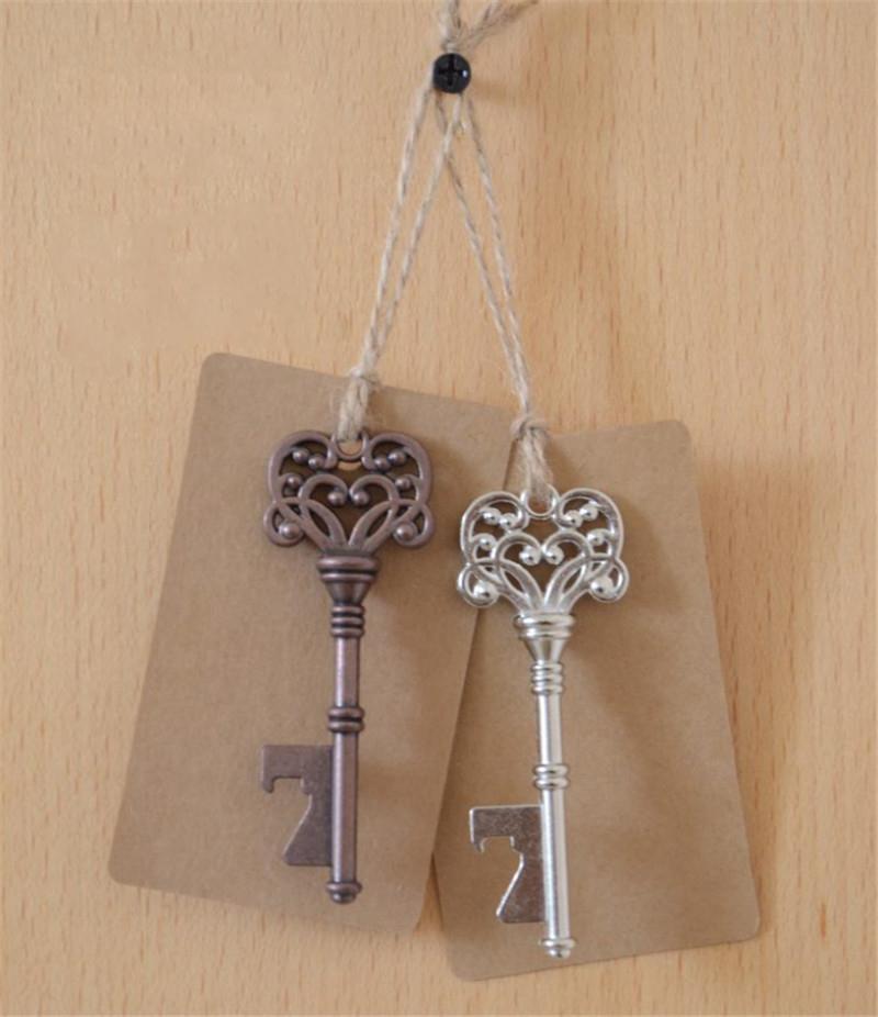 2017 vintage bronze key shaped bottle beer openers keychain practical bar tools wedding favors. Black Bedroom Furniture Sets. Home Design Ideas
