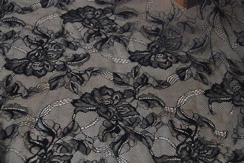 Online Cheap Sell By Yard Good Quality Elegant Embroidery Black ...