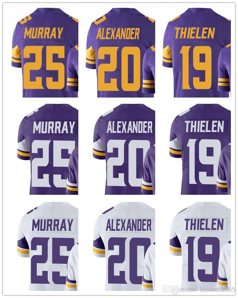 ... Jersey Custom Minnesota Men Women Youth Viking 25 Latavius Murray 20  Mackensie Alexander 19 Adam Thielen VaporUntouchable New Salute to service  ... 8415439fe