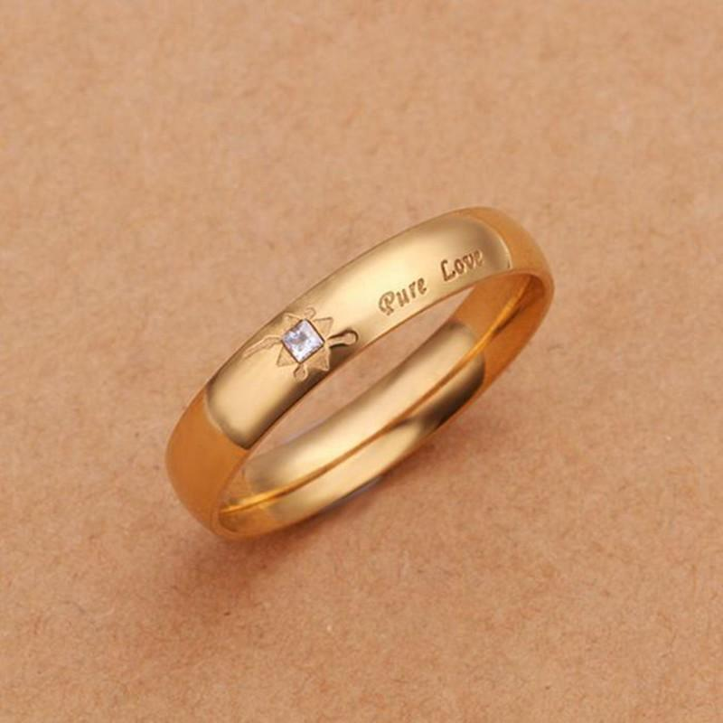 Never fade 18k gold plated pure love letter jewelry for Does gold plated jewelry fade