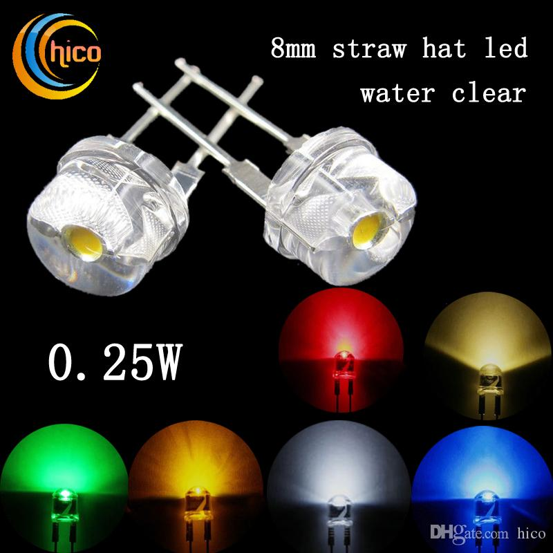 8mm Orange Led: 2017 F8 Led Diode Straw Hat Beads Diodes Utra Bright Cree