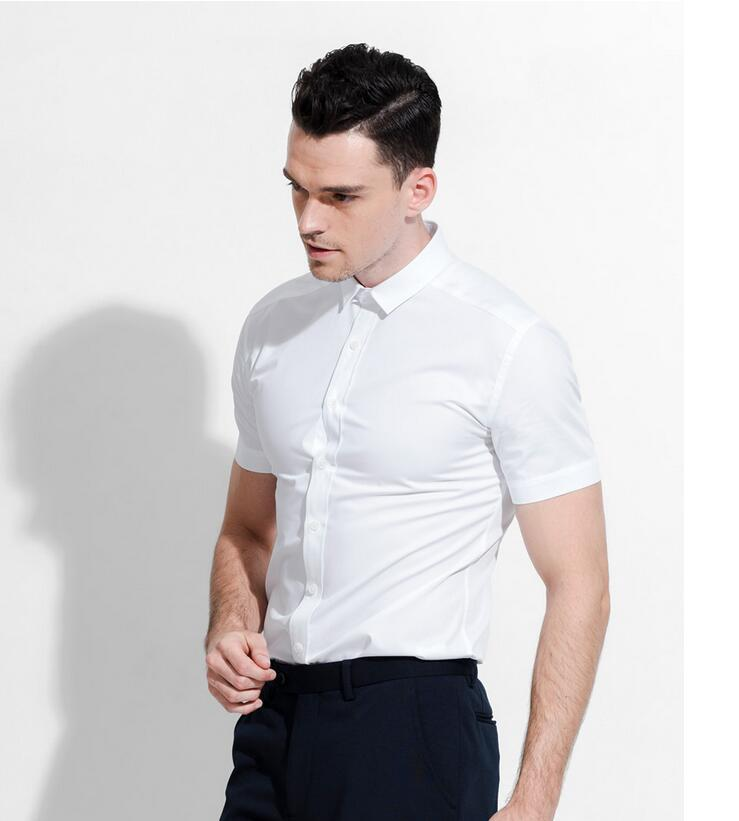 Wholesale fashion men business suits with short sleeves in for Mens business shirts sale