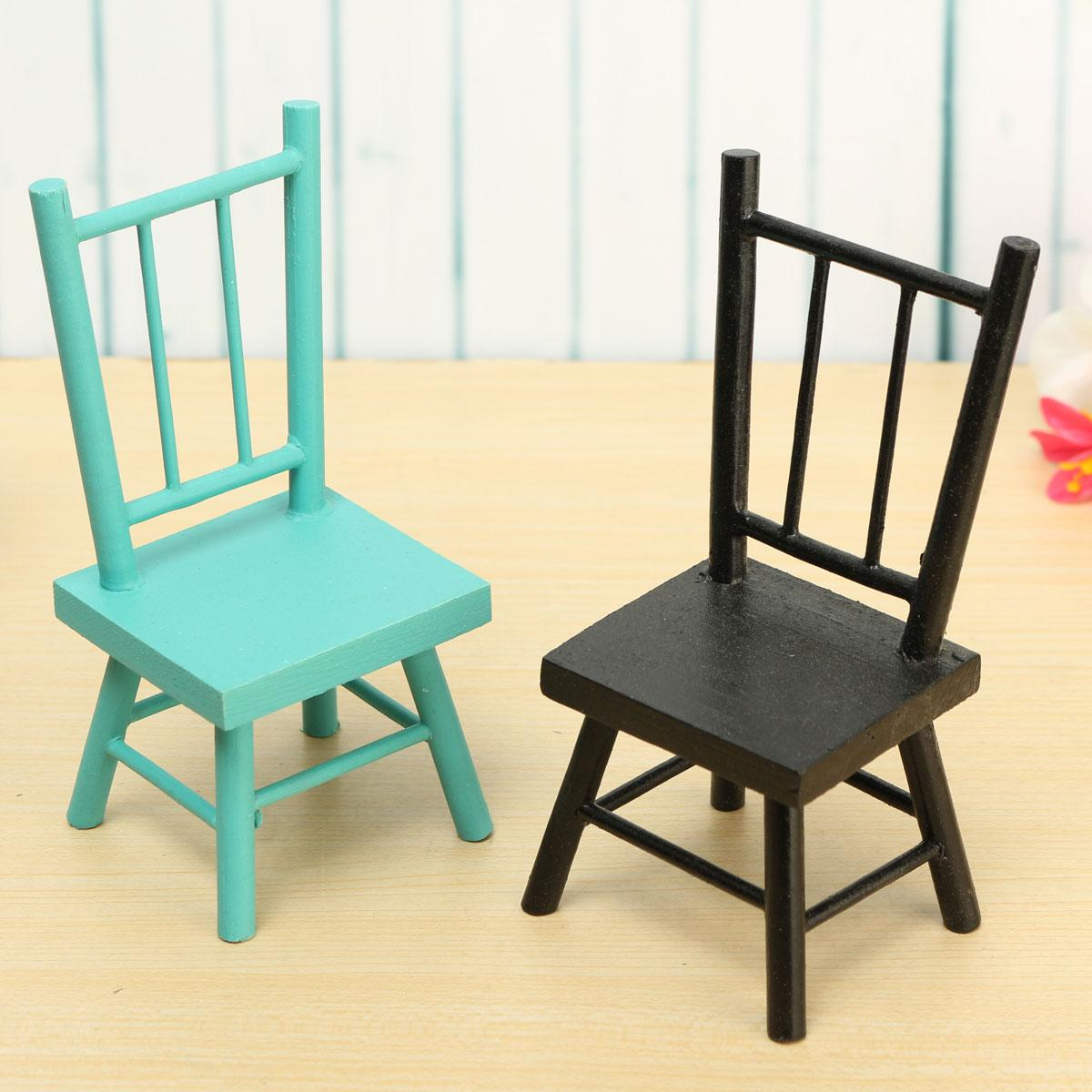 wooden craft mini small chair bench stool ornaments