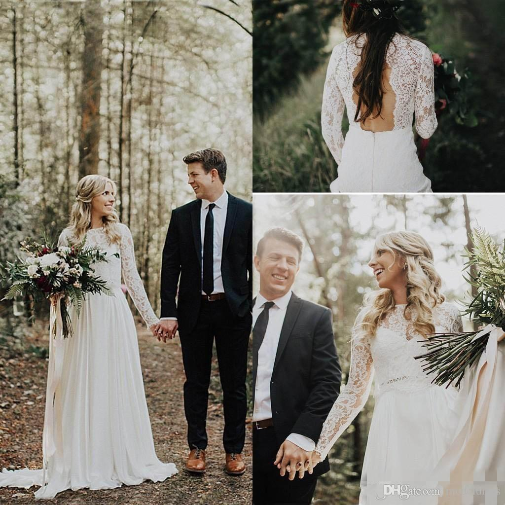 20218 new romantic country lace wedding dresses long sleeves 20218 new romantic country lace wedding dresses long sleeves backless a line long sweep train garden beach bridal gowns plus size customized wedding dresses ombrellifo Gallery