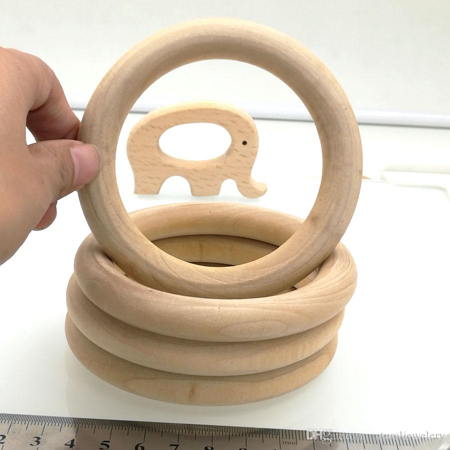 Online cheap unfinished wood rings natural 3 7 inch wooden for Wooden rings for crafts