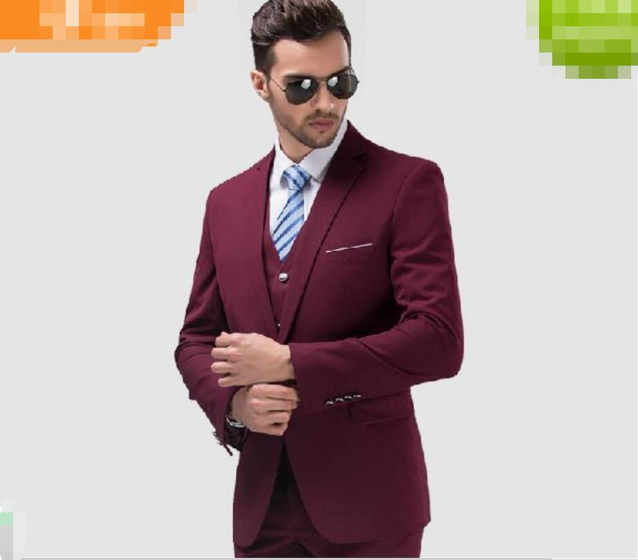 The Most Handsome Men Business Suits Three-piece Contracted Lapel ...
