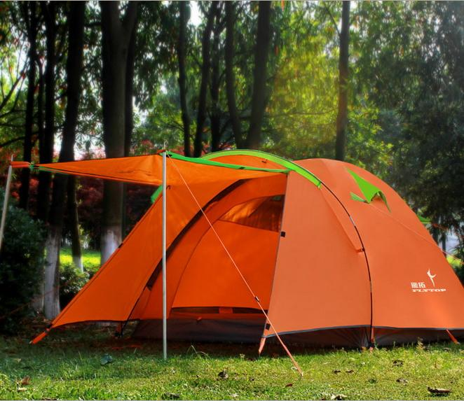 One Bedroom U0026 One Living Room Camping Outdoor 3 4 Person Hiking Shelters  Double Layer Waterproof Camping Aluminum Tent Camping Tents Hiking Shelters  ...