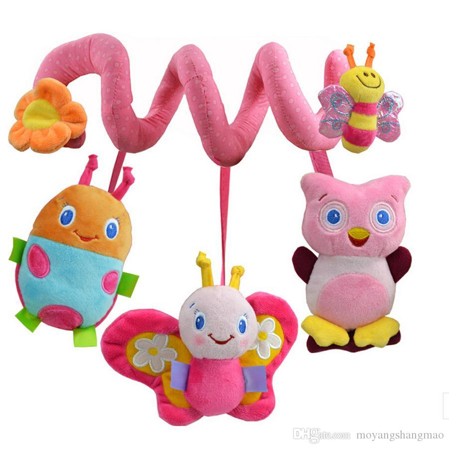 Crib activity toys for babies - Three Beetle Stroller Rattle Baby Toys Brinquedos Plush Toys Learning Education Rattle Crib Activity Toys